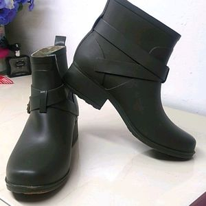Lucky Brand Army Green Rubber Ankle Boots